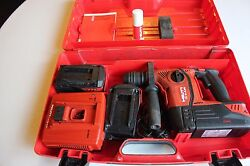 Hilti Sds Hammer/impact Drill - Model Te 6 A36 W/ 3 Batteries, Charger And Case