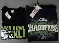 Nfl Super Bowl Winners 2015 Seattle Seahawks Hoodie And T-shirt, Men's Adult 2xl