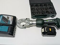 Greenlee 18v Battery Hydraulic 6 Ton Crimper Ek622l Used 1 Batterys And Charger