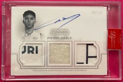 2020 Topps Dynasty Formula 1 Pierre Gasly F1 Autograph Triple Patch Card 06/10
