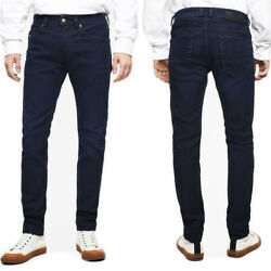 Diesel Menand039s Slim Fit Stretch Jeans Trousers Dark Blue Thommer X 0098i