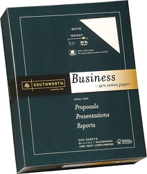 Business Paper 85 X 11 Wove Finish White 24 Lb 90 Gsm 500 Sheets
