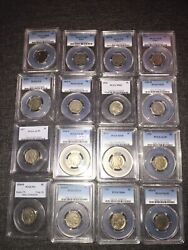 1913-1936 G-ms Buffalo Nickel 5c Pcgs Certified Collection 32 Coins Total