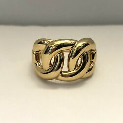 Nwot Premier Designs Jewelry Why Not Yellow Gold Loop Band Ring Sz 10.75