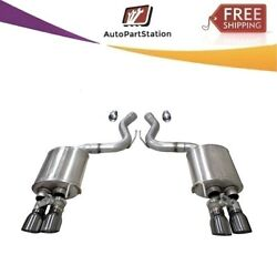 21002gnm Corsa 304ss Valved Axle-back Exhaust System Quad Rear For Mustang 18-19