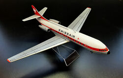 Sud Aviation Se.210 Iii Caravelle. Swissair. Scale Model On Stand.