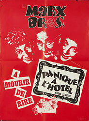 Original Vintage Poster Marx Brothers Groucho Harpo French Room Service Film