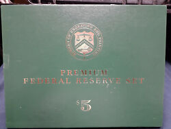 Bep Premium Set 1999 5.00 Serial C00001425a As Issued Gem Set 12 Notes And Case