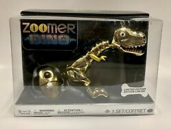 Zoomer Dino Gold Limited Edition Metallic 1774 / 5000 Sealed New In Box Rare