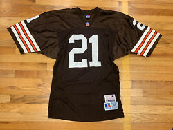 Russell Atheltic Nfl Pro Line Cleveland Browns Jersey Size 44 21 Rare On Field