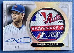 2020 Topps Five Star Jacob Degrom Autograph Jumbo Laundry Tag Patch D 1/1 Mets