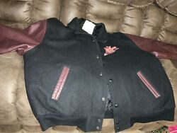Dr Pepper Leather And Wool Varsity Jacket Coat College Conferences Patches Xl Rare