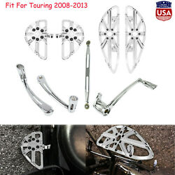 Front Rear Floorboard Shift Lever Brake Arm Linkage Fit For Harley Touring 08-13