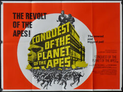Conquest Of The Planet Of The Apes 1972 30x40 Quad Movie Poster Roddy Mcdowall