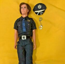 Rare Vintage Barbie Mattel 1968 Cop Kenandnbspdoll Police Officer With Hat And Cuffs