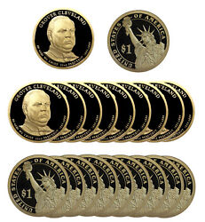 2012 -s Grover Cleveland Presidential Proof Dollar Roll 20 Us Coins 1st Term