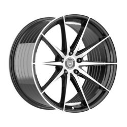 4 Hp4 20 Inch Staggered Black Rims Fits Ford Fusion 2006 - 2012