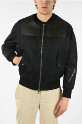 Neil Barrett Men Jackets Eco Leather Loose Fit Jacket With Zip Closure Black