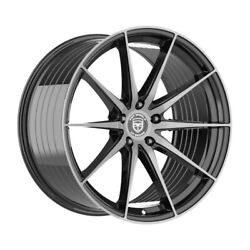 4 Hp4 20 Inch Stagg Black Dark Tint Rims Fits Ford Fusion 2006 - 2012