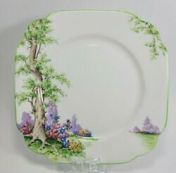 Royal Albert Greenwood Tree Green Trimmed Square Plate