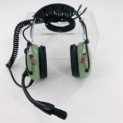 David Clark Aviation Headset H10-21 Mic Over Head Coil Cord Dual Plugs Untested