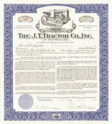 J. T. Tractor Co., Inc. Of New York, N.y. - Stock Certificate