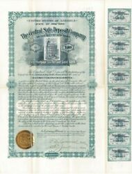 Central Safe Deposit Company Of The City Of New York - Stock Certificate