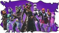 FORTNITE STYLE CHILDRENS WALL STICKER DECAL KIDS BOY GIRL TOP QUALITY LARGE