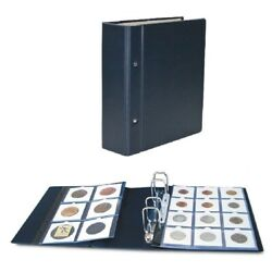 Coin Holder Album For 2x2 Coin Holders-compact Blue