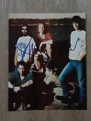 Soundgarden Autographed Signed Glossy 8x10 Photo 4 Signatures Chris Cornell +