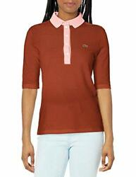 Lacoste Womenand039s 3/4 Sleeve Contrast Placket Slim F - Choose Sz/color