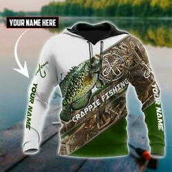 Crappie Fishing Hoodie 3d Personalized All Over Printed Fisher Tee Unisex S-5xl