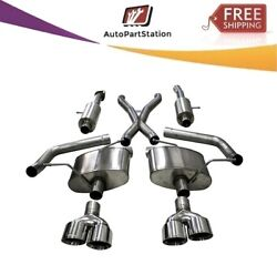 21051 Corsa 304 Ss Cat-back Exhaust System With Quad Rear Exit For Jeep 18-21