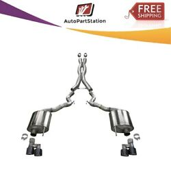 21047blk Corsa 304 Ss Cat-back Exhaust System W/quad Rear Exit For Mustang 18-20