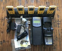 Gas Monitor Lot Sale 5 Calibrated Microclipxt Units With Calibration Dock...