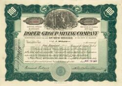 Roper Group Mining Company Of New Mexico - Stock Certificate