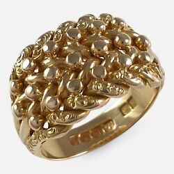 George V 18ct Yellow Gold Keeper Ring 1913