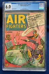 Air Fighters Comics V2 1 Wwii Cover Cgc 6.0 Hillman Periodicals 1943