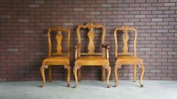Antique French Carved Arm Chair Petite French Provincial Chairs Set Of 3