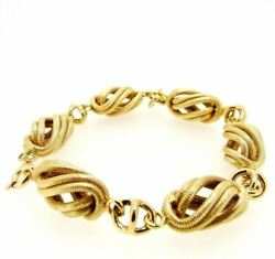 Vintage Bracelet Yearsand039 50 In Yellow Gold Solid 18 Carats Made In Italy