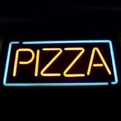 New Pizza Open Shop Neon Sign 20x12 Light Lamp Store Pub Collection St155
