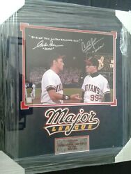 Major League 11x14 Color Photo Hand Signed By Dorn And Vaughn / With C.o.a.