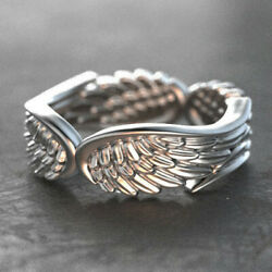 Wing Shaped Personalized Women Jewelry 925 Silver Rings Wedding Rings Size 6 10 C $1.65