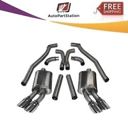 14971 Corsa 304 Ss Cat-back Exhaust System With Quad Rear Exit For Camaro 10-15