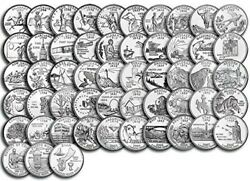 1999-2009 P D Quarters States And Territories Complete Set 112 Coins Uncirculated