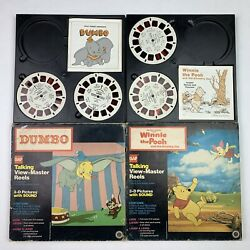 Dumbo And Winnie The Pooh Vintage View Master Reels Picture Sound 70s Disney
