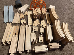 Huge Lot Thomas The Tank Engine Wooden Railway Track Switch Brio Clicking Clack