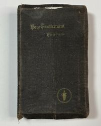Vintage Wwii Ww2 Armed Forces Pocket Bible New Testament Attributed/personal