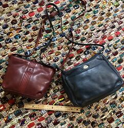 TWO Etienne Aigner Red Navy Crossbody Leather Bags $24.00