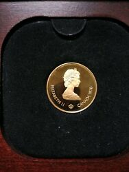 1976 Canadian Olympic Commemorative Gold Proof Collectorand039s Coin
